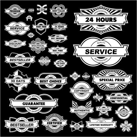Set of design elements for sale.   Vector