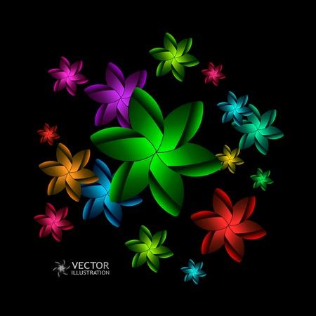 simple geometry: Floral illustration.