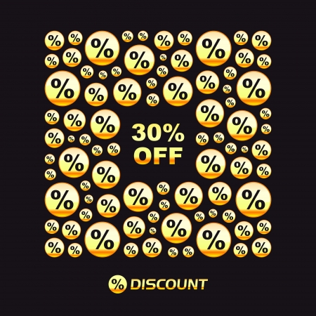 Discount  Business illustration  Vector