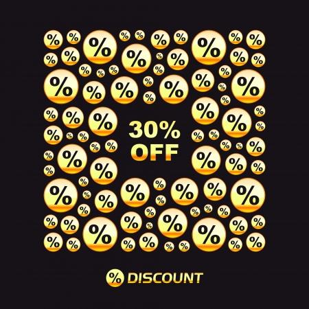 procent: Discount  Business illustration