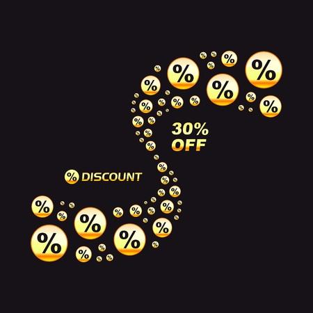 Discount illustration. Vector