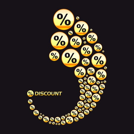 Discount illustration. Vector