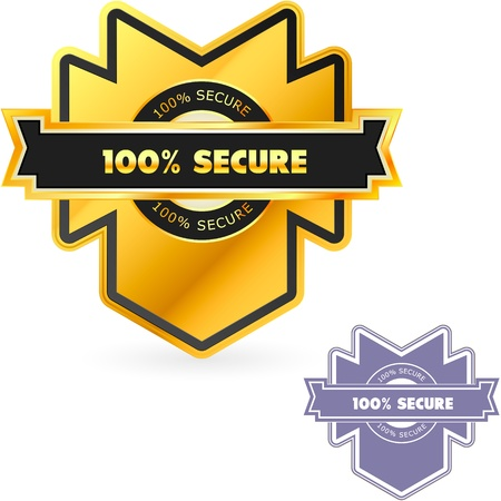 panoply: 100% SECURE. Vector illustration.
