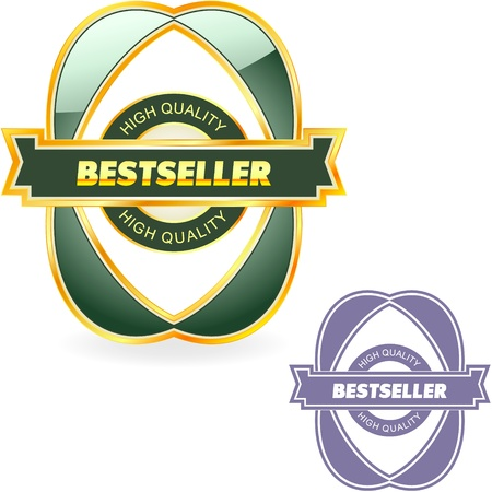 Bestseller emblem. Stock Vector - 11255099