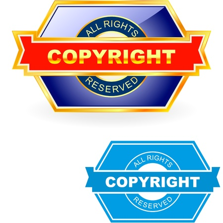 COPYRIGHT. illustration.   Vector