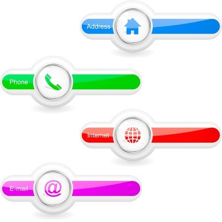 Contact element set for design.   Illustration