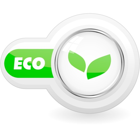 ecology emblem: ECO vector element.