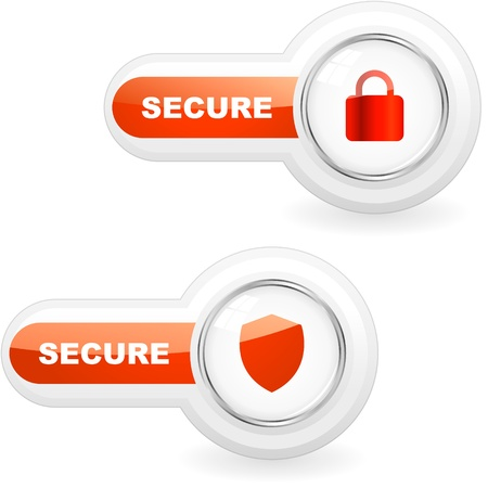 secure security: SECURE. Vector illustration.