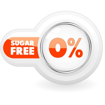 Sugar free icon   Illustration   Vector