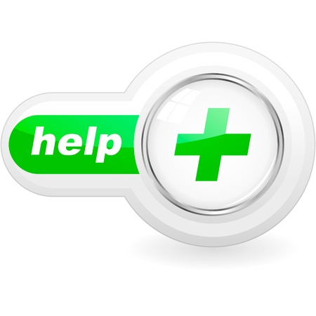 help button: Help button for web.   Illustration