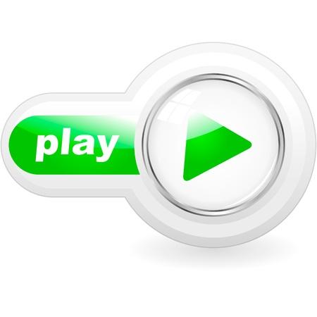 divertirsi: Pulsante Play Vettoriali