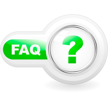 FAQ button. Vector