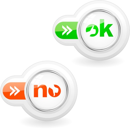 preferencia: Aprobadas y rechazadas iconos.