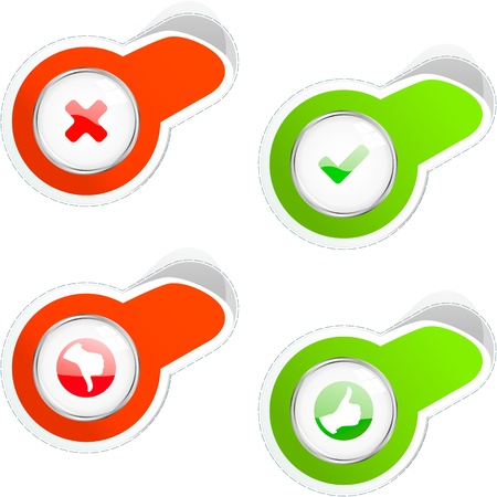 Approved and rejected icons.    Vector