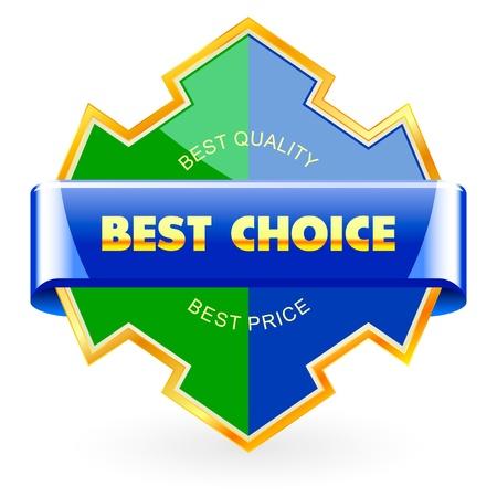 assurance: BEST CHOICE. Sale label.