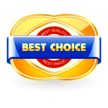 BEST CHOICE. Sale label. Vector