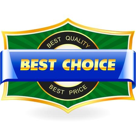 Die beste Wahl. Sale-Label. Vektorgrafik