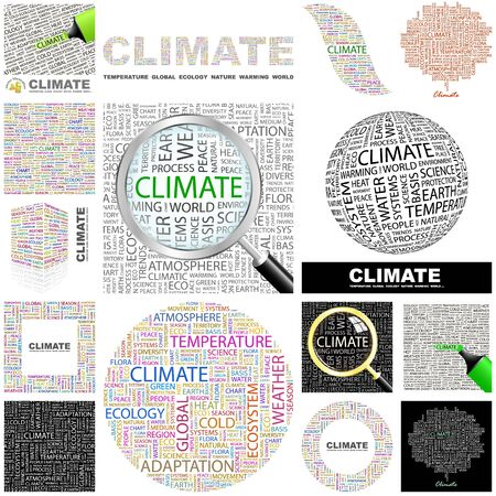 CLIMATE  Word collage  GREAT COLLECTION  Vector