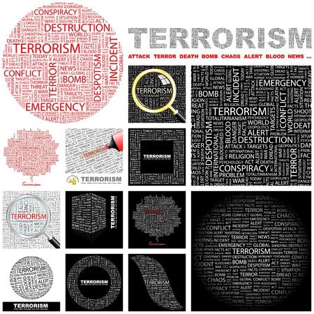 bloodshed: TERRORISMO. Palabra collage. Gran colecci�n.