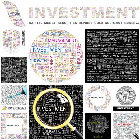 INVESTMENT  Word collage  GREAT COLLECTION  Stock Vector - 16455089