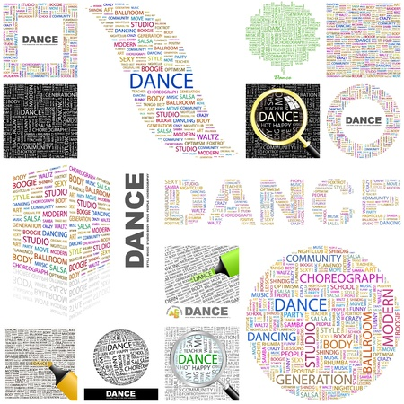 DANCE. Concept illustration. GREAT COLLECTION. Vector
