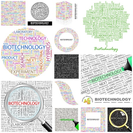 BIOTECHNOLOGY. Concept illustration. GREAT COLLECTION. Vector