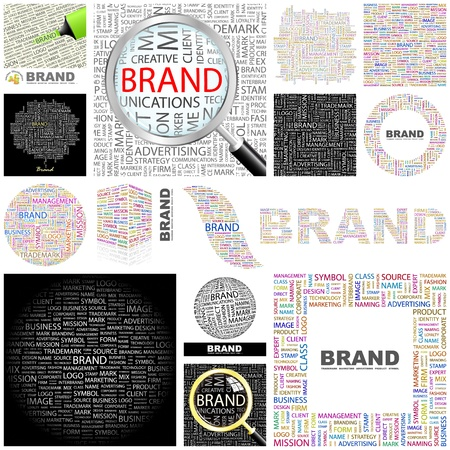 BRAND  Word collage  GREAT COLLECTION  Vector