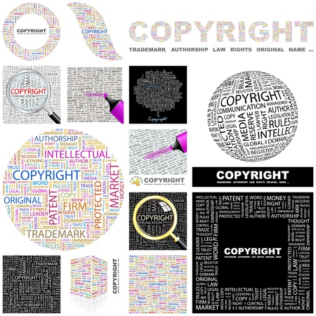 COPYRIGHT. Word collage. GREAT COLLECTION. Stock Vector - 11269216