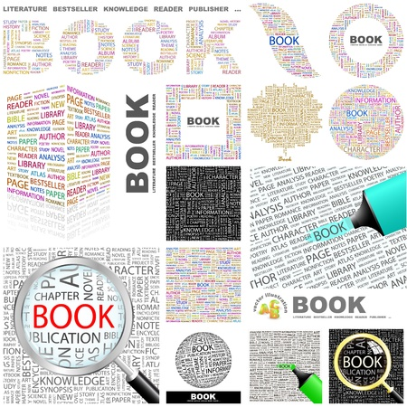 BOOK. Concept illustration. GREAT COLLECTION. Vector