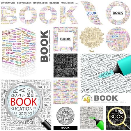 buchhandlung: BOOK. Konzept Illustration. Gro�e Sammlung.