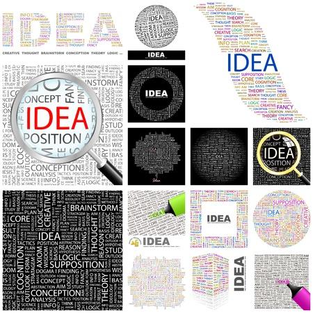 ipotesi: IDEA. Parola di collage. GRANDE COLLEZIONE.