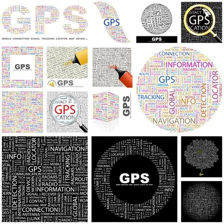 portable radio: GPS. Concepto de ilustraci�n. Gran colecci�n. Vectores