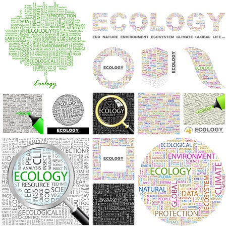 ECOLOGY. Concept illustration. GREAT COLLECTION. Vector