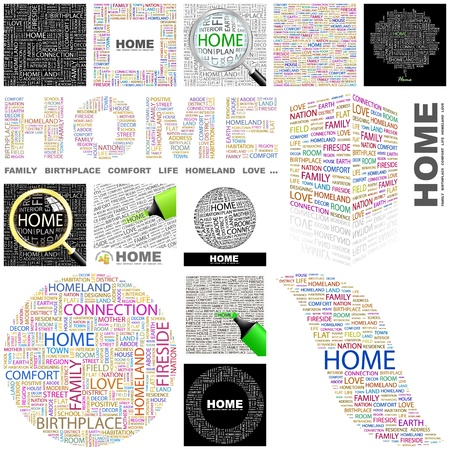 refinancing: HOME  Word collage  GREAT COLLECTION  Illustration