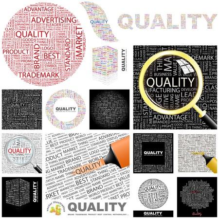 ottimo: QUALITA 'collage grande parola