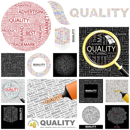 excellent background: QUALITY   Word collage  GREAT COLLECTION
