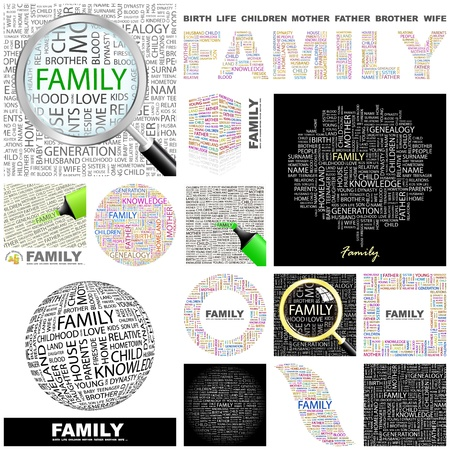 FAMILY. Word collage. GREAT COLLECTION. Stock Vector - 11269188