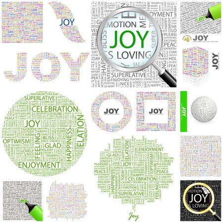 glädje: GLÄDJE. Word collage. STOR SAMLING. Illustration