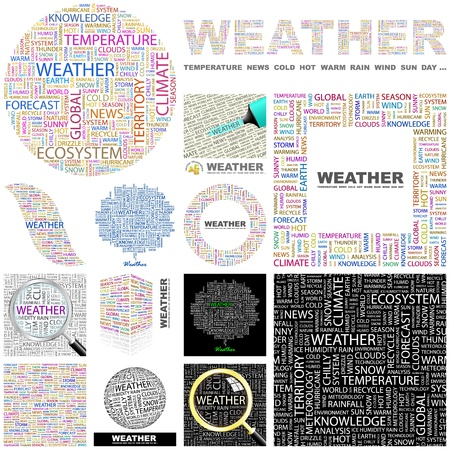 WEATHER. Concept illustration. GREAT COLLECTION. Vector