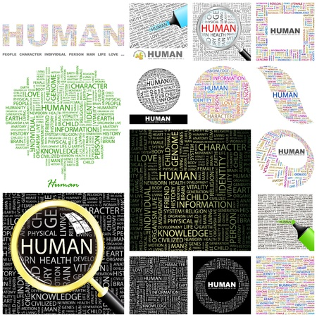 HUMAN  Word collage  GREAT COLLECTION Stock Vector - 16709271