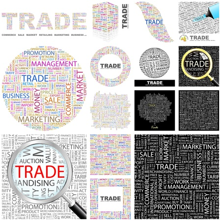 TRADE  Word collage  GREAT COLLECTION  Vector