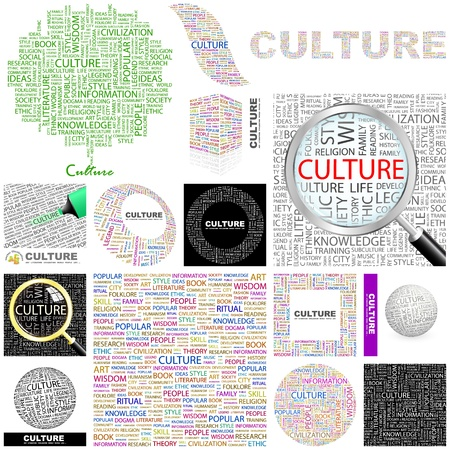 identidad cultural: CULTURA. Concepto de ilustración. Gran colección. Vectores