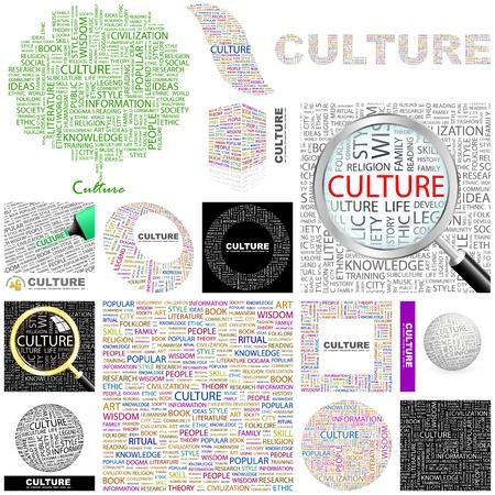 humanisme: CULTURE. Illustration Concept. Grande collection.
