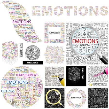 miedoso: EMOCIONES. Concepto de ilustraci�n. Gran colecci�n. Vectores