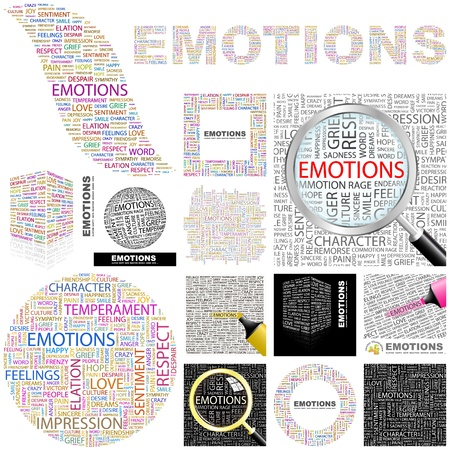 EMOTIONS. Concept illustration. GREAT COLLECTION. Vector