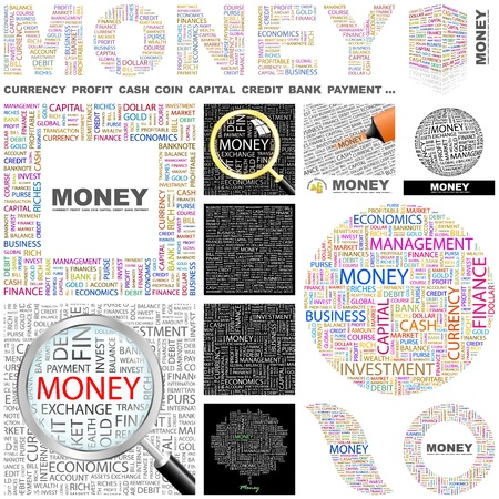 MONEY  Word collage  GREAT COLLECTION  Vector