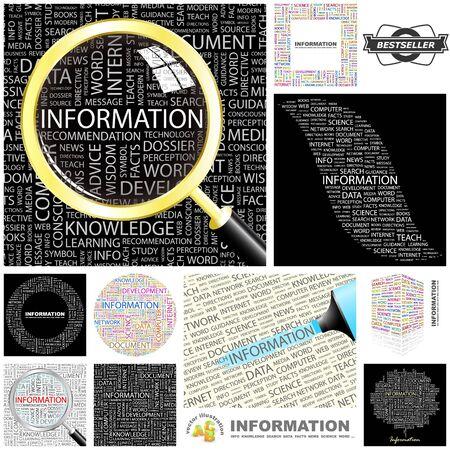 INFORMAZIONI collage grande parola