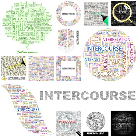 INTERCOURSE. Word collage. GREAT COLLECTION. Stock Vector - 11269182