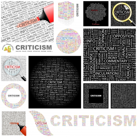 CRITICISM  Word collage  GREAT COLLECTION  Vector