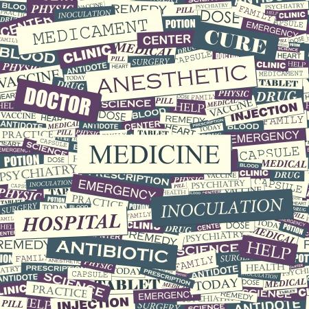 equipe medica: MEDICINA Seamless pattern